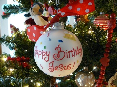 Happy Birthday Jesus Christmas Ornament