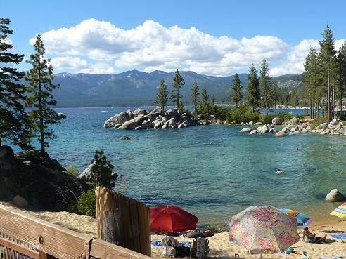 Sand Harbor State Park at Lake Tahoe on the Nevada side of the Lake