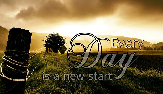 Every Day is a new start! holidays-and-observances.com Quote of the Day for January 1st.