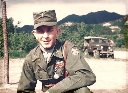 This is our Dad in 1953 during the Korean War as a 1st Lt. Smith. He was a pilot and had over 40 combat missions