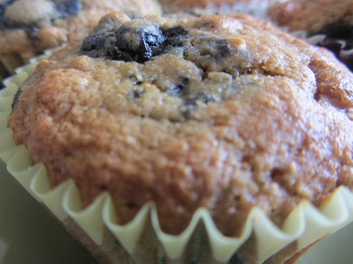 July 11th is National Blueberry Muffin Day! Check out Kerry's Healthy Blueberry Muffin Recipe that includes egg whites, low fat buttermilk, whole wheat pastry flour, flax seeds, blueberries, and nuts.
