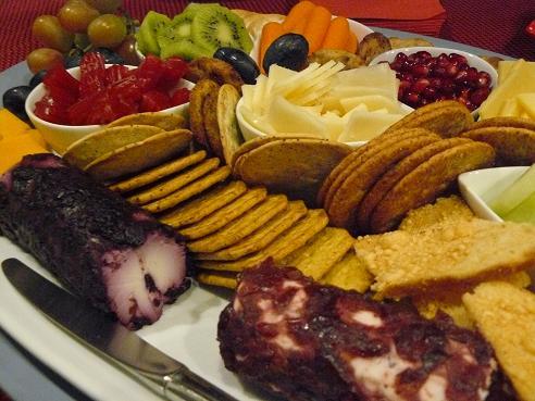 Fruits, Veggies, Cheese and Crackers