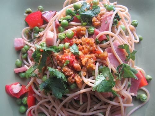 The Holidays and Observances, Recipe of the Day for February 13, is a Simple Ham Pasta Recipe from Kerry, at Healthy Diet Habits.