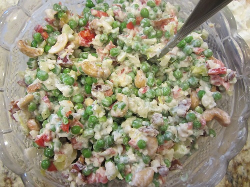 The Holidays and Observances Recipe of the Day, is a Cauliflower Pea Salad, from Kerry at Healthy Diet Habits.