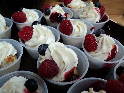 Small Dessert Cups perfect for a Super Bowl Dessert!