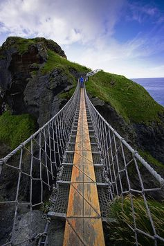 Holidays in Ireland Info. from Holidays and Observances - pictured is a rope bridge