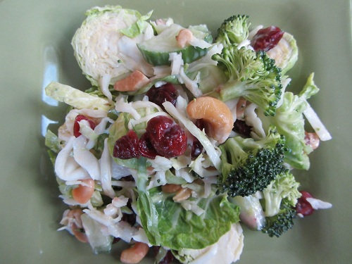 Brussels Sprouts Salad is January 2 Recipe of the Day from Healthy Diet Habits