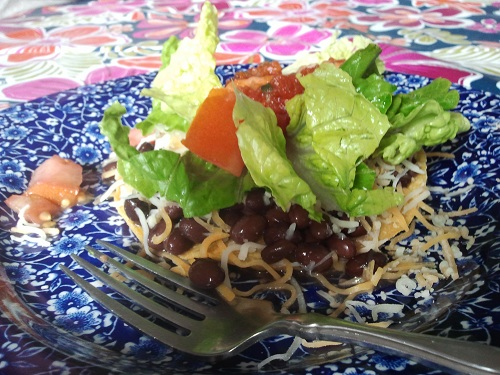 Holidays and Observances January 6 Recipe of the Day is Black Bean Tostado by Kerry of Healthy Diet Habits