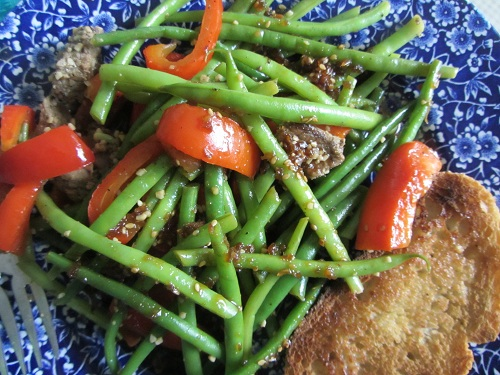 January is National Meat Month, so the Recipe of the Day is a Healthy Pepper Steak Recipe from Kerry, of Healthy Diet Habits