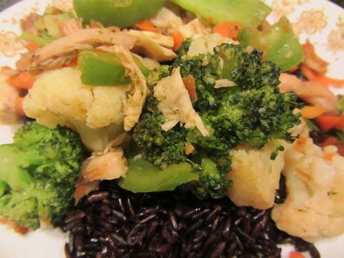 The Holidays and Observances Recipe of the Day for March 3, is a Chicken Stir Fry Recipe with Cauliflower and Broccoli from Kerry, at Healthy Diet Habits.