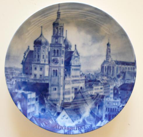 China Plate from Augsburg, Germany