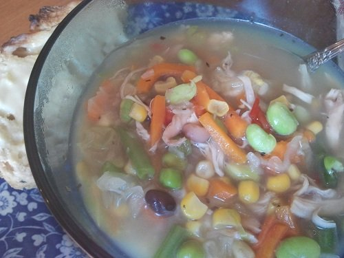 The Holidays and Observances Recipe of the Day for February 21, is an Easy Chicken Soup Recipe from Kerry, of Healthy Diet Habits.