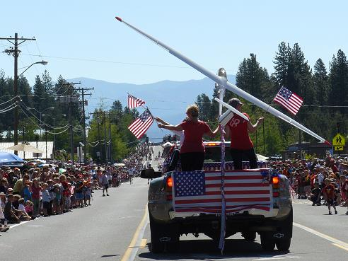 July Holiday Information from Holidays and Observances - Independence Day is one of the most popular July Holidays - pictured is the 2012 Fourth of July Parade in Truckee, CA