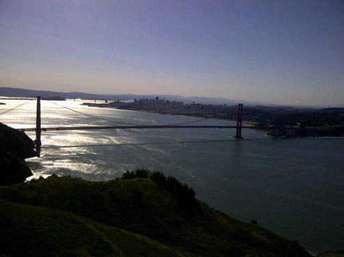 Golden Gate Bridge in San Francisco taken from the Marin Headlands