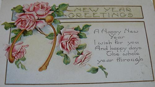 New Years Vintage Card