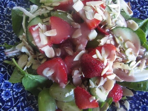 Stawberry Spinach Salad - Healthy Memorial Day Meals Tips from Holidays and Observances
