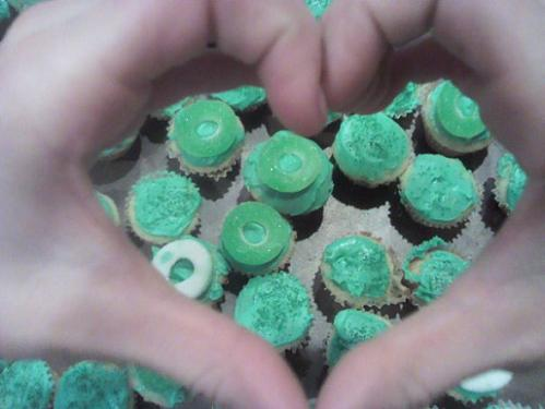 St. Patricks Day Food Information from the Holidays and Observances Website. Pictured is St. Patricks Day Cupcakes.