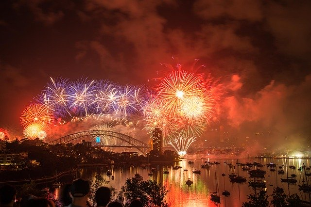 Watching the New Years Eve firework show in Sydney Harbor in Australia is one of the best firework shows around the World!