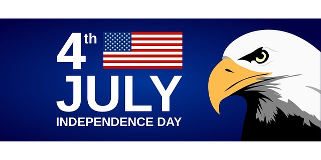 July 4th is Independence Day! Info. from Holidays and Observances.